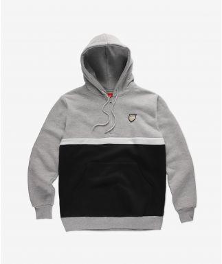 Hoodie Halftone Grey