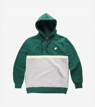 Hoodie Halftone Dark Green